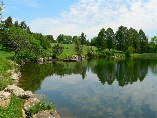 2 Acre Pond Construction : Acre building lot investment real estate for sale